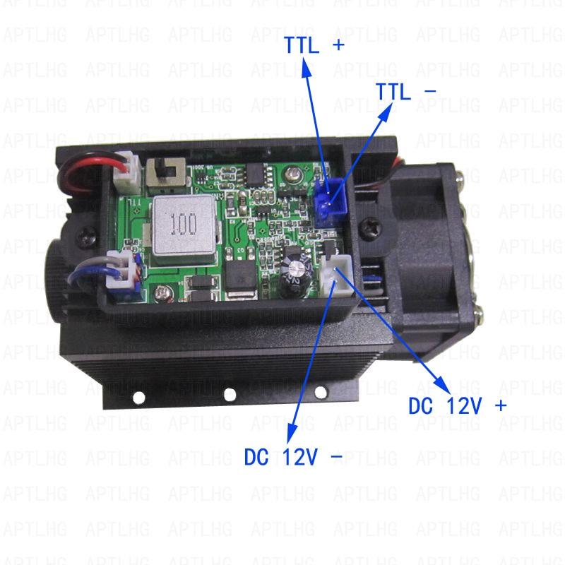 DIY uudsus laserpea 450nm 15000mW 15W sinist laseritoru dioodmoodulit - Puidutöötlemismasinate varuosad - Foto 2