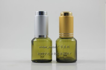 wholesales 50pieces/lot 15ml light green round dropper bottle,15ml glass dropper container ,glass essentical oil dropper bottle
