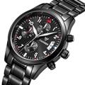 Men Watch Men's Casual Brand Sport Watches Quartz Waterproof Stainless Steel Strap Chronograph Hour Clock Military Fashion Watch