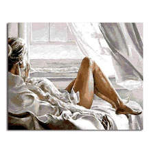 WONZOM Sexy Woman Abstract DIY Painting By Numbers Acrylic Paint On Canvas Kit Figure For Home Decor Art Gift