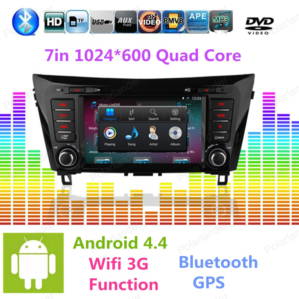 2 din Android 4 4 Car DVD player for Nissan Qashqai X Trail 2014 GPS Navi