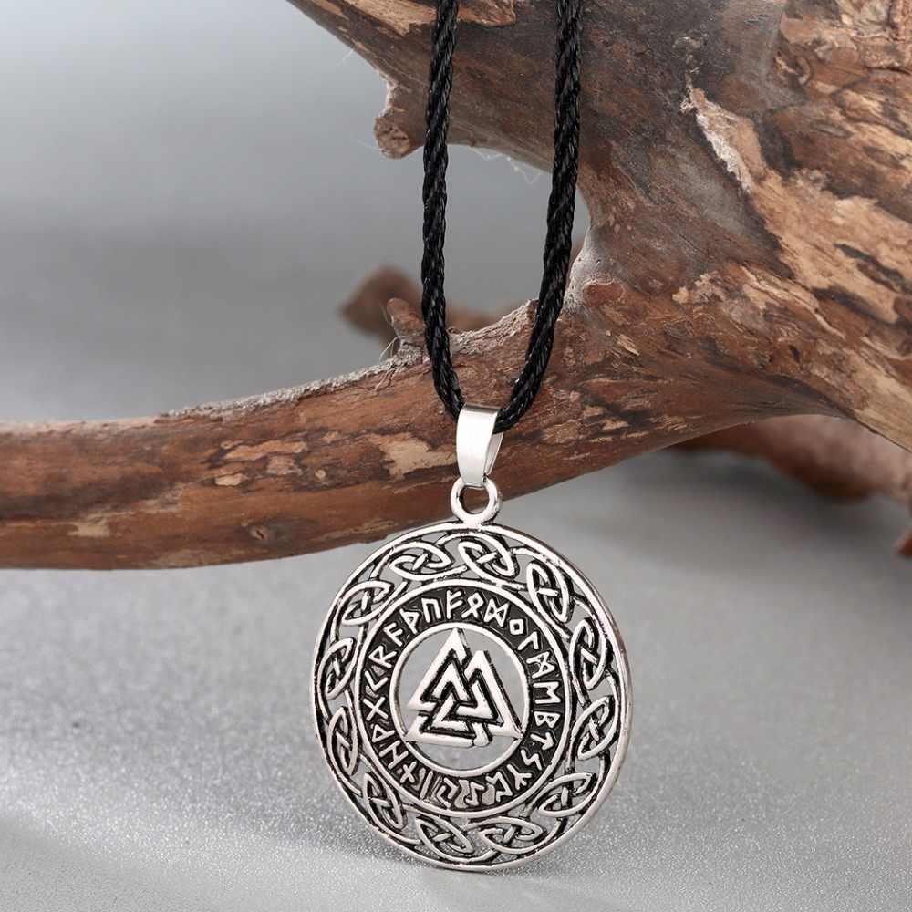 CHENGXUN Celtic nieskończoność węzłów runy runiczny Norse Valknut Vikings Wikinger charms wisiorek biżuteria