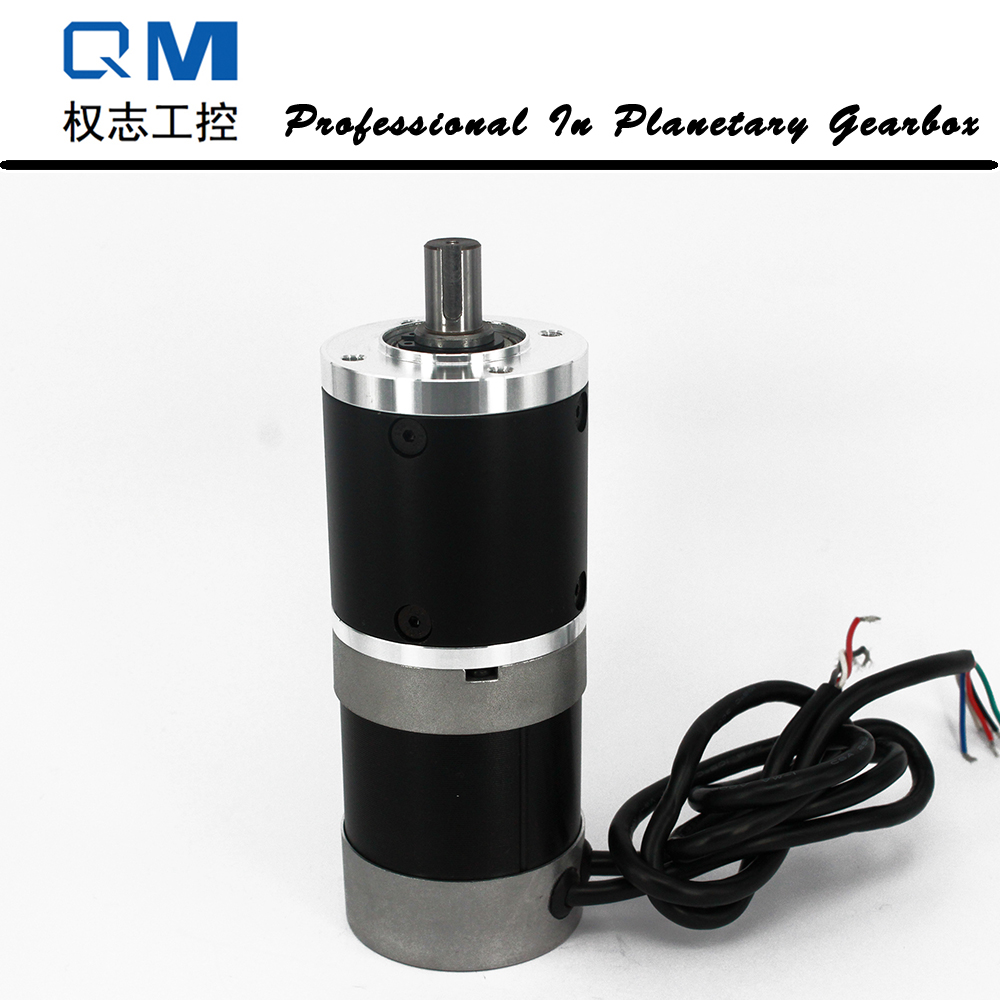 Gear dc motor planetary reduction gearbox ratio 40:1 nema 23 100W dc brushless motor 24V bldc motor high quality 5n m 42 42 119 7mm brushless dc motor with planetary gearbox reduction ratio 104 8