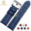 Натуральная кожа браслет ремешок 24 мм мода ремешок для часов наручные часы ремешок многоцветный розовый синий красный коричневый часы аксессуары