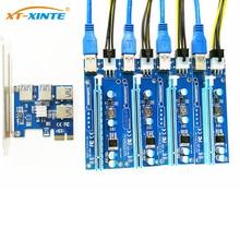 Добавить в карты PCIe 1 до 4 PCI Express 16X Слоты Riser Card pci-e 1X к внешним 4 Слот pci-e адаптер Порты и разъёмы Multiplier карты