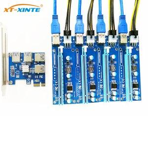 Image 2 - PCIe 1 à 4 PCI Express 16X emplacements Riser carte PCI E 1X à externe 4 PCI e slot adaptateur Port multiplicateur Minning carte ajouter dans la carte