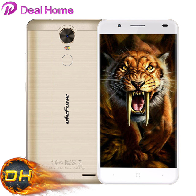 New arrival Ulefone Tiger 4200mAh MTK6737 Quad Core Android 6.0 5.5 inch HD 1280x720 2GB+16GB 8MP 4G Fingerprint Cellphone