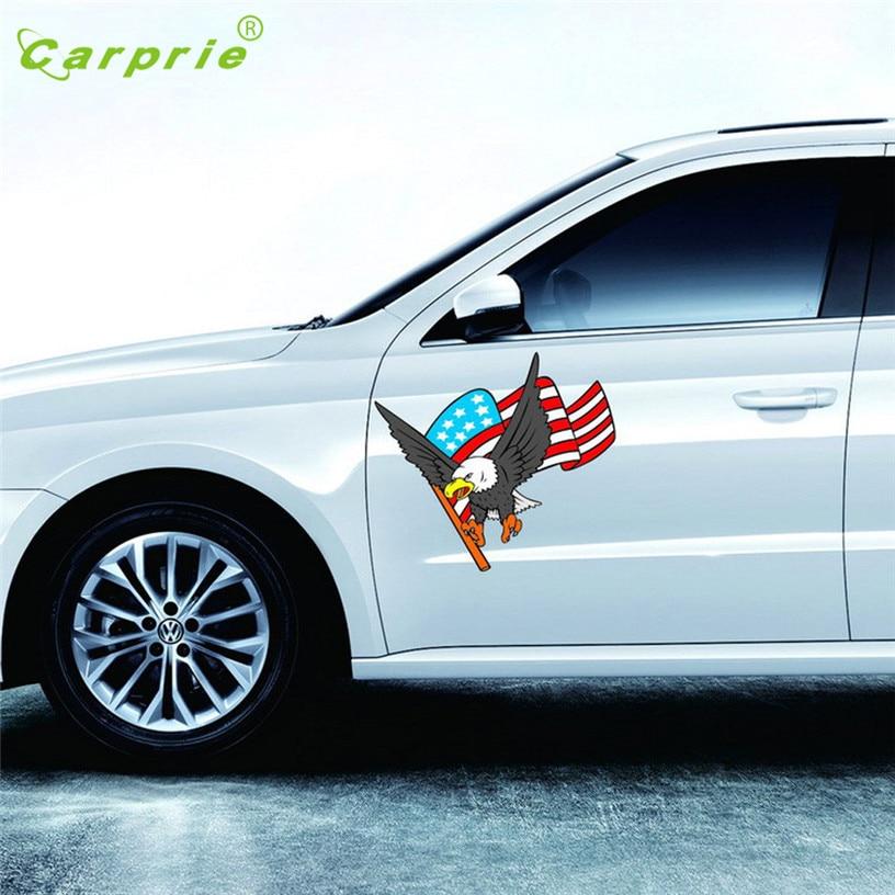 Прямая горячая Продажа 2 шт наклейка автомобиль Автоматический грузовик Хоук боковины капота Орел флаг США стикер подарок 27 июля