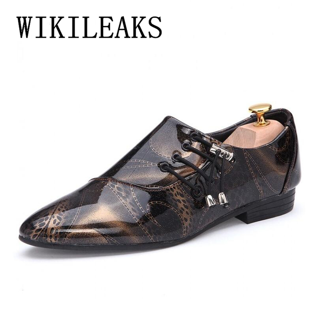 c199f91b4a US $23.42 49% OFF|pointed toe dress shoes mens patent leather black shoes  wedding dress oxford shoes for men designer version luxury prom shoes-in ...