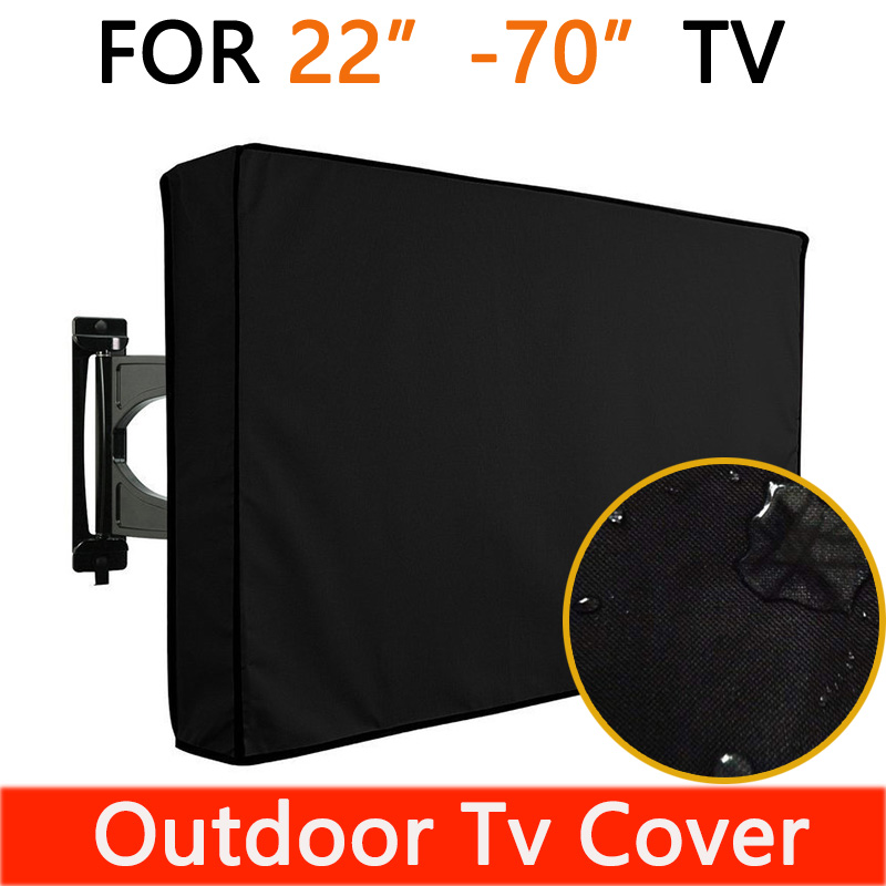 """Outdoor TV cover with screen LED LCD TV waterproof outdoor tv covers 32"""" 38"""" 42"""" 48"""" 52"""" 55"""" 60"""" Protect TV Screen Covers Garden"""