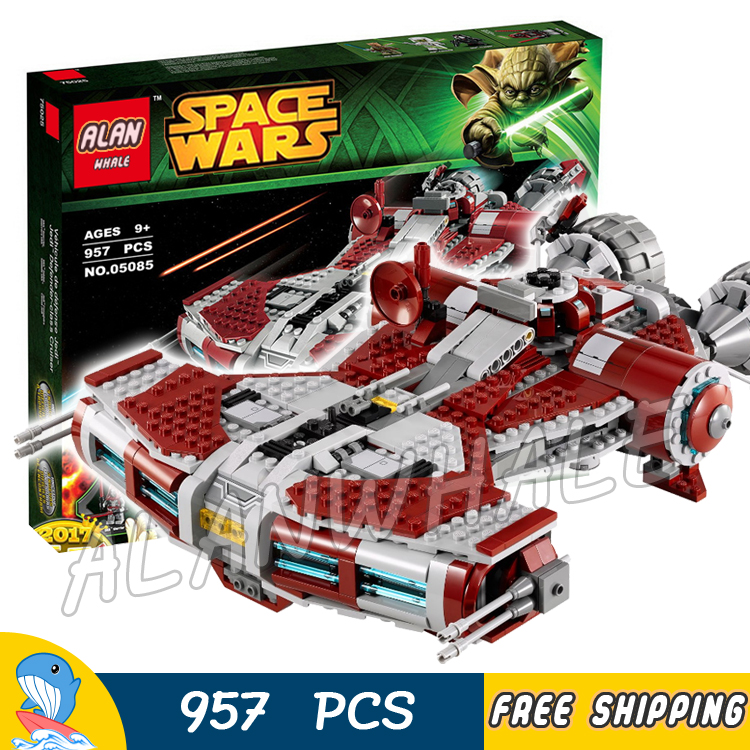 957pcs Space Wars Jedi Defender Class Cruiser Universe Starship 05085 Model Building Block Toy Bricks Games Compatible With Lego набор 1toy space wars future defender т58795 86681