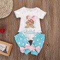 2 шт./компл.! девушка новорожденный одежда набор Детей Девочка Ползунки + Грелка ноги Чулок Одежда Экипировка Набор