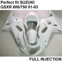 Injection molding fairing body kit for Suzuki GSXR600 01 02 03 wine motorcycle fairings GSXR 750 2001 2002 2003 LV50