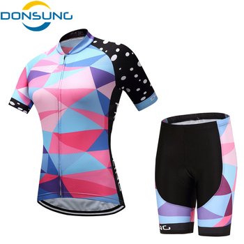 Cycling Sets Women Ropa Ciclismo Mujer Pro MTB Bike Short Sleeve Summer Breathable Bicycle Jersey Set Sport Cycling Clothing