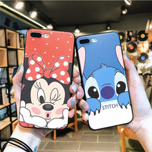 OUTMIX Mickey Minnie Donald Daisy Duck Tampa Funda Coque Para iPhone 7 7 plus 8 8 plus X XS XR max 5 5S 6 6 6 S plus(China)