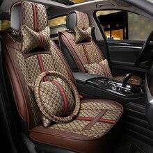 Flax car seat cover  For Porsche cayenne s gts macan subaru impreza tribeca xv sti,cadillac cts xts xt5 ats sls ct5 ct6 escalade