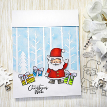 Christmas Gift Tree Joy Transparent Clear Silicone Stamp Set for DIY Scrapbooking/Photo Album Card Making Decorative Clear Stamp perpetual calendar design for transparent clear silicone stamp diy scrapbooking photo album clear stamp christmas gift cl 055
