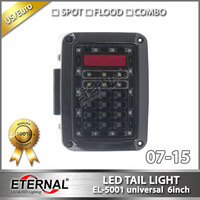 2pcs 6in 07 16 Led Tail Light 4x4 Off Road Running Turn Brake Reverse Rear Lamp