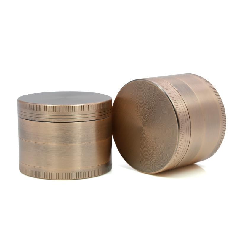 Nowy 4 warstwy ze stopu aluminium średnica 40mm 50mm 55mm 63mm brązu młynek szisza chwastów młynek zioło zioło drop shipping