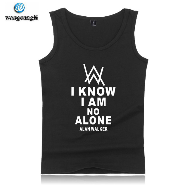 e6e2d6e1abf061 DJ Alan Walker Faded fashion tank tops summer vest cotton fitness  sleeveless shirt casual bodybuilding tank top men plus size