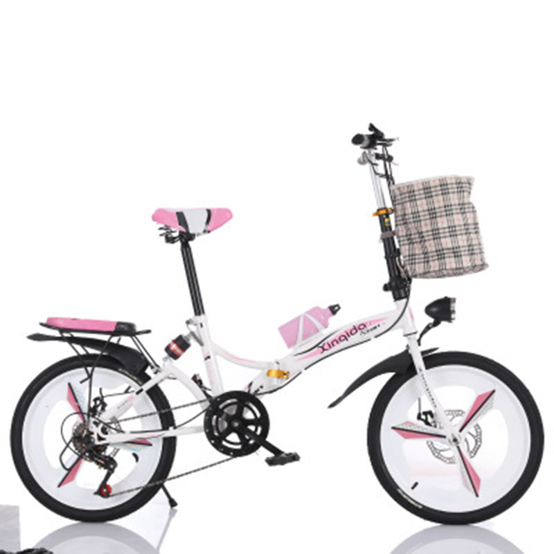 Folding Bicycle 20-Inch Shock Absorber Speed Change Three-Knife Disc Brake Adult Male And Female Students Portable Small Bicycle