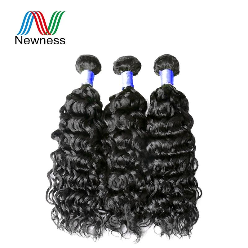 Новизна волос 3 Связки сделки сырья и индийские волосы воды волна Связки естественный Цвет индийские волосы волна воды не линять