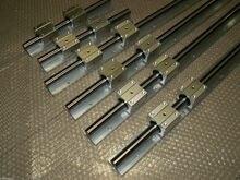 6 шт. SBR10-L400/800/1400 мм Линейный рельс (каждый 2 шт.) + 24 шт. SBR10UU Опорный Блок