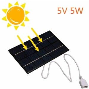 Image 3 - 2 шт. солнечная батарея 5В 5 Вт Портативный модуль DIY небольшой Панели Солнечные для Сотовая связь телефон Зарядное устройство дома светильник игрушки и т. д. Панели солнечные