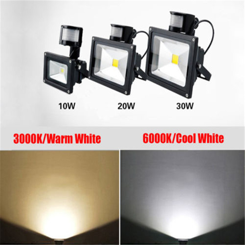 10 50W LED Outdoor Motion Sensor Flood Light Garage