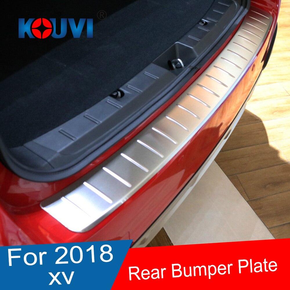 Autocollant de plaque de seuil de protection de pare-chocs arrière en acier inoxydable pour accessoires de voiture Subaru XV GT3 GT7 2017 2018