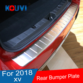 Stainless Steel Rear Bumper Protector Sill plate sticker For For Subaru XV GT3 GT7 2017 2018 car accessories
