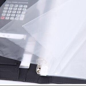 Image 5 - 8 מנות קובץ תיקיית A4 PU טבעת קלסר תצוגת ספר תיקיות עם מחשבון מסמך תיק ארגונית עסקי ציוד משרדי