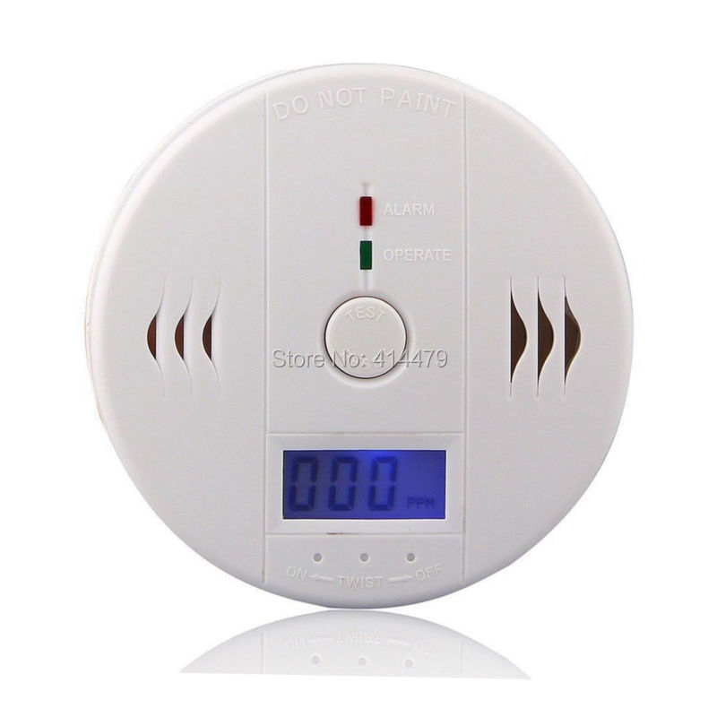 REDEAGLE White CO Carbon Monoxide Smoke Sensor Gas Leak Warning Alarm High Sensitive LCD Detector материнская плата gigabyte ga 970a ds3p socket am3 amd 970 4xddr3 2xpci e 16x 2xpci 3xpci e 1x 6xsataiii atx retail