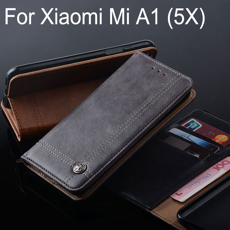 for Xiaomi Mi A1 case Luxury Leather Flip cover Stand Card Slot Without magnets Business Cases for Xiaomi Mi 5x mi5x A1 fundas