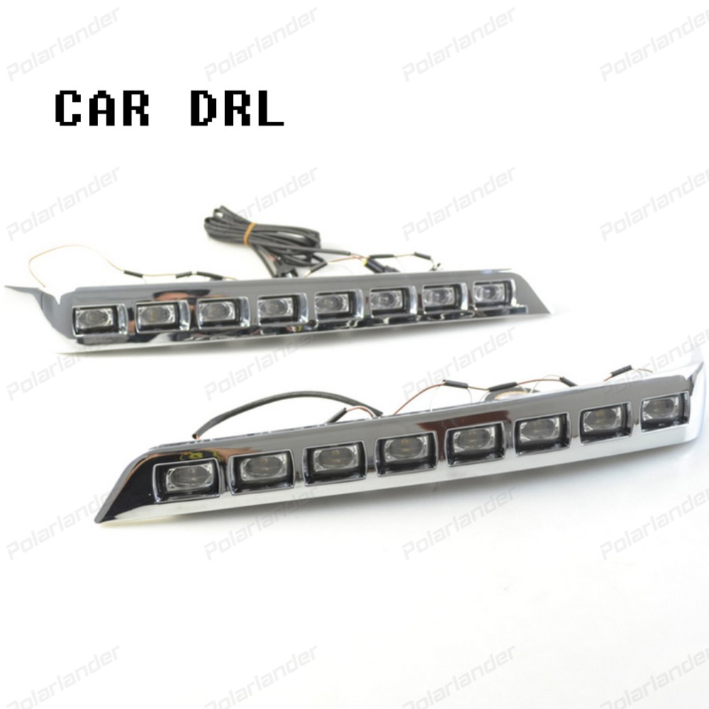 hot sales Daytime running lights for T/oyota L/andcruiser F/J200 LC200 with fog lamp 2012-2015 car styliing