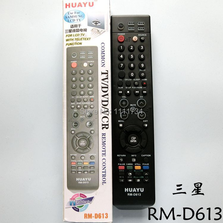 US $9 0 |Free Setup directly Universal For Samsung LCD TV remote control  HUAYU RM D613 With Teletext Function BN59 00610A BN59 00870A-in Remote