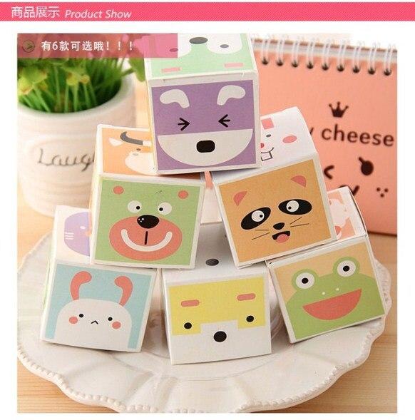 1 Piece Korean Cartoon Animal Sticky Notes Creative Post Notepad Filofax Memo Pads Office Supplies School Stationery Scratch
