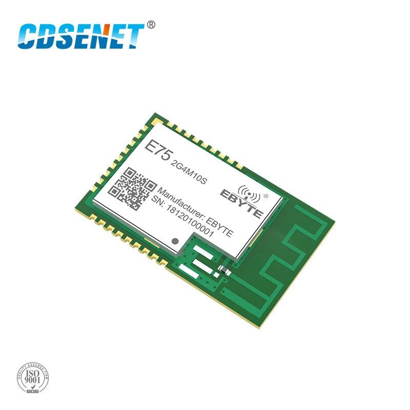 JN5169 Zigbee 2.4GHz 10mW Wireless Transmitter Receiver CDSENET E75-2G4M10S SMD 10dBm PCB IPEX 2.4 GHz Rf Transceiver Module