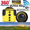 Detu 360 vr panorama câmera 8mp câmera wi-fi 1080 p 30fps 236 grau Fisheye Câmera Mini DV Esportes DVR Carro para Óculos Virtuais VR