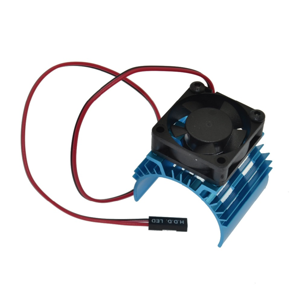 1/10 Tram <font><b>540</b></font> <font><b>Motor</b></font> With <font><b>Fans</b></font> Radiator Heat Sink For 1/10 RC Car <font><b>540</b></font>/550 3650 Size <font><b>Motor</b></font> image