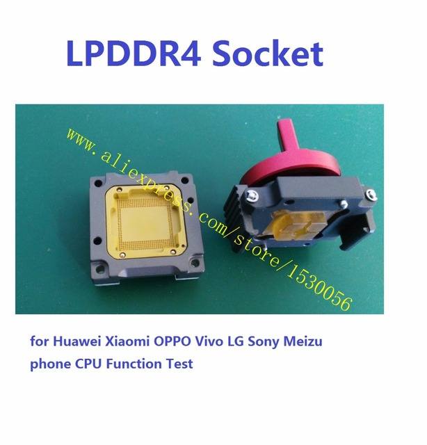 US $2399 0 |LPDDR4 Socket BGA366 ddr4 test socket for Huawei Xiaomi OPPO  Vivo LG Sony Meizu phone CPU Function Test-in Connectors from Lights &