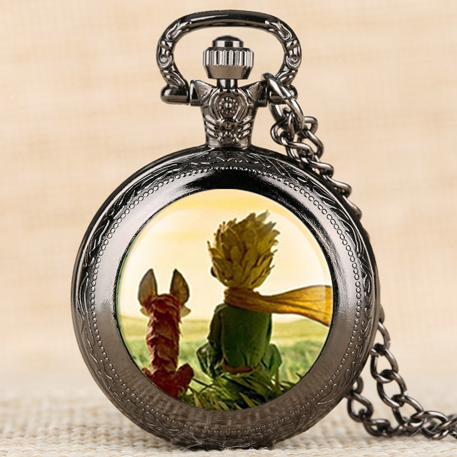 Hot Selling Classic The Little Prince Movie Planet Blue Bronze Vintage Quartz Pocket FOB Watch Popular Gifts for Boys Girls Kids 2019 2020 2021 2022 2023 2024 (8)