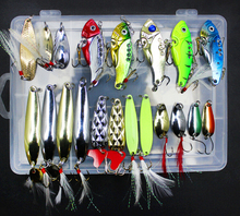 Road sub bait, iron tablets bait lures, metal sequins rotation, Sets / 21pcs iron 1 full page