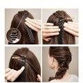 Rolos de cabelo Braider Trança Ferramenta Rolos Com Torção cabelo Magia Styling Bun Criador Braid Manutenção ferramentas de estilo de cabelo trançado