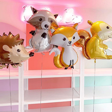 large animal Fox foil Jungle Party balloons owl birthday forest party decorations kids Hedgehog bear globos