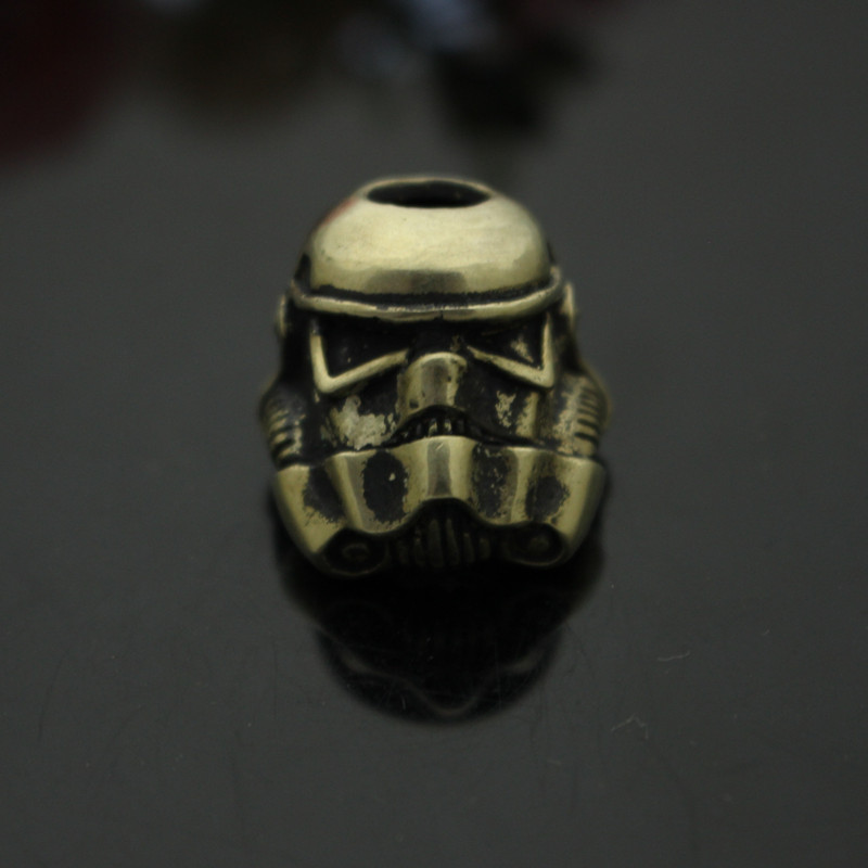 Brass Warrior Pencils Pure Copper Helmet Knife Drops Rope Pendant Retro EDC Outdoors Knife EDC Multi Tools