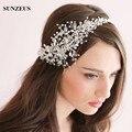 Vintage Cristais Headware Cabelo Jóias 2016 Chapéus De Noiva com Flores de Contas Feitas À Mão para Noivas Acessórios Para o Cabelo de Noiva S803