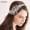 Vintage Headware Crystals Hair Jewelry 2016 Bridal Hats with Flowers Beaded Handmade for Brides Wedding Hair Accessories S803