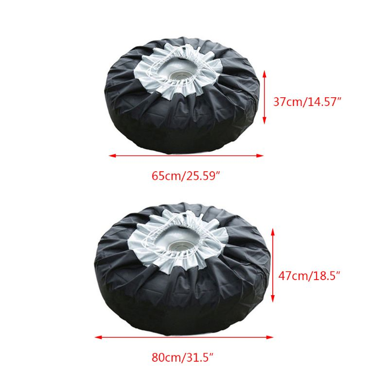 1 Pc Tire Cover Case Car Spare Tire Cover Storage Bags Carry Tote Polyester Tire For Cars Wheel Protection Covers 4 Season
