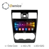 For Subaru WRX Forester 2014 2015 2016 GPS Navigation 32G ROM 4G SIM Ownice C500 Octa
